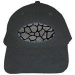 SKIN1 BLACK MARBLE & GRAY LEATHER Black Cap
