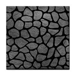 SKIN1 BLACK MARBLE & GRAY LEATHER Tile Coasters