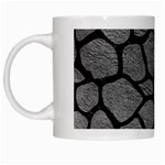 SKIN1 BLACK MARBLE & GRAY LEATHER White Mugs