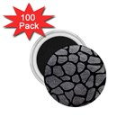 SKIN1 BLACK MARBLE & GRAY LEATHER 1.75  Magnets (100 pack)