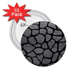 SKIN1 BLACK MARBLE & GRAY LEATHER 2.25  Buttons (10 pack)