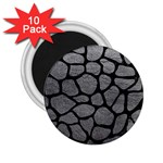SKIN1 BLACK MARBLE & GRAY LEATHER 2.25  Magnets (10 pack)
