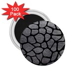 SKIN1 BLACK MARBLE & GRAY LEATHER 2.25  Magnets (100 pack)