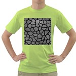 SKIN1 BLACK MARBLE & GRAY LEATHER Green T-Shirt