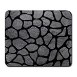 SKIN1 BLACK MARBLE & GRAY LEATHER Large Mousepads