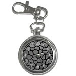 SKIN1 BLACK MARBLE & GRAY LEATHER Key Chain Watches