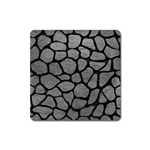 SKIN1 BLACK MARBLE & GRAY LEATHER Square Magnet