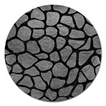 SKIN1 BLACK MARBLE & GRAY LEATHER Magnet 5  (Round)