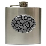 SKIN1 BLACK MARBLE & GRAY LEATHER Hip Flask (6 oz)