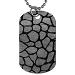 SKIN1 BLACK MARBLE & GRAY LEATHER Dog Tag (Two Sides)