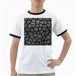 SKIN1 BLACK MARBLE & GRAY LEATHER Ringer T-Shirts