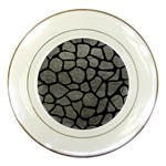 SKIN1 BLACK MARBLE & GRAY LEATHER Porcelain Plates