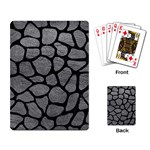 SKIN1 BLACK MARBLE & GRAY LEATHER Playing Card