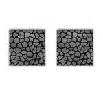 SKIN1 BLACK MARBLE & GRAY LEATHER Cufflinks (Square)