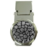 SKIN1 BLACK MARBLE & GRAY LEATHER Money Clip Watches