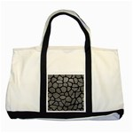 SKIN1 BLACK MARBLE & GRAY LEATHER Two Tone Tote Bag