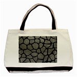 SKIN1 BLACK MARBLE & GRAY LEATHER Basic Tote Bag (Two Sides)