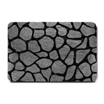 SKIN1 BLACK MARBLE & GRAY LEATHER Small Doormat