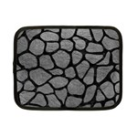 SKIN1 BLACK MARBLE & GRAY LEATHER Netbook Case (Small)