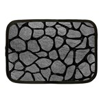 SKIN1 BLACK MARBLE & GRAY LEATHER Netbook Case (Medium)