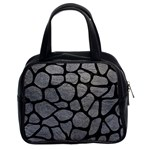 SKIN1 BLACK MARBLE & GRAY LEATHER Classic Handbags (2 Sides)