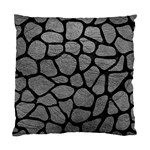 SKIN1 BLACK MARBLE & GRAY LEATHER Standard Cushion Case (One Side)