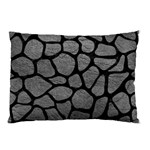 SKIN1 BLACK MARBLE & GRAY LEATHER Pillow Case