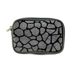 SKIN1 BLACK MARBLE & GRAY LEATHER Coin Purse