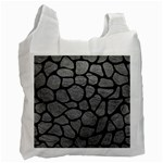 SKIN1 BLACK MARBLE & GRAY LEATHER Recycle Bag (Two Side)