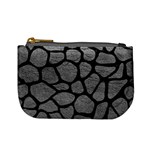 SKIN1 BLACK MARBLE & GRAY LEATHER Mini Coin Purses