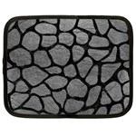 SKIN1 BLACK MARBLE & GRAY LEATHER Netbook Case (XL)