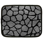 SKIN1 BLACK MARBLE & GRAY LEATHER Netbook Case (XXL)