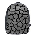 SKIN1 BLACK MARBLE & GRAY LEATHER School Bag (Large)