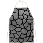 SKIN1 BLACK MARBLE & GRAY LEATHER Full Print Aprons