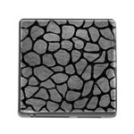 SKIN1 BLACK MARBLE & GRAY LEATHER Memory Card Reader (Square)