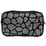 SKIN1 BLACK MARBLE & GRAY LEATHER Toiletries Bags 2-Side