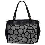 SKIN1 BLACK MARBLE & GRAY LEATHER Office Handbags (2 Sides)