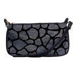 SKIN1 BLACK MARBLE & GRAY LEATHER Shoulder Clutch Bags