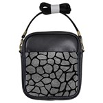 SKIN1 BLACK MARBLE & GRAY LEATHER Girls Sling Bags
