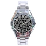 SKIN1 BLACK MARBLE & GRAY LEATHER Stainless Steel Analogue Watch