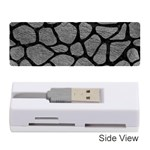 SKIN1 BLACK MARBLE & GRAY LEATHER Memory Card Reader (Stick)