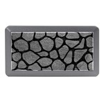 SKIN1 BLACK MARBLE & GRAY LEATHER Memory Card Reader (Mini)