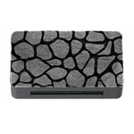 SKIN1 BLACK MARBLE & GRAY LEATHER Memory Card Reader with CF