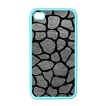 SKIN1 BLACK MARBLE & GRAY LEATHER Apple iPhone 4 Case (Color)