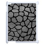 SKIN1 BLACK MARBLE & GRAY LEATHER Apple iPad 2 Case (White)