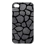 SKIN1 BLACK MARBLE & GRAY LEATHER Apple iPhone 4/4S Hardshell Case