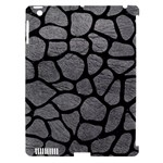 SKIN1 BLACK MARBLE & GRAY LEATHER Apple iPad 3/4 Hardshell Case (Compatible with Smart Cover)