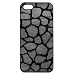 SKIN1 BLACK MARBLE & GRAY LEATHER Apple iPhone 5 Seamless Case (Black)