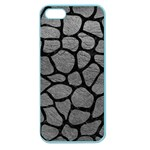 SKIN1 BLACK MARBLE & GRAY LEATHER Apple Seamless iPhone 5 Case (Color)