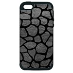 SKIN1 BLACK MARBLE & GRAY LEATHER Apple iPhone 5 Hardshell Case (PC+Silicone)